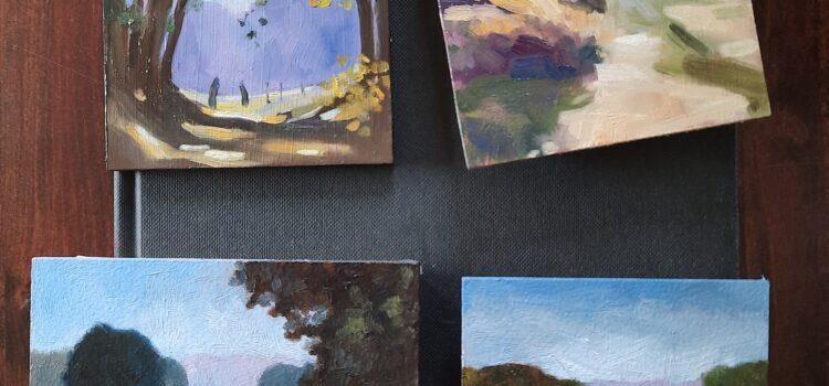 Expositie visitekaartjes bij Galerie Paterswolde